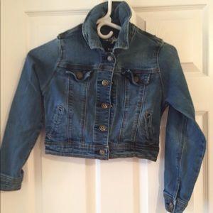 Girls jean cropped jacket